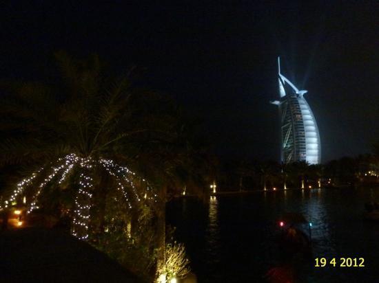 Burj Al Arab Jumeirah: BURJ AL ARAB AS SEEN BY NIGHT FROM JUMEIRAH.