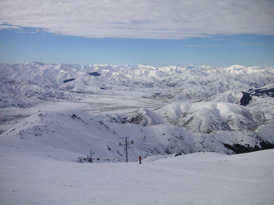 Hanmer Springs Ski Area: From top of Poma