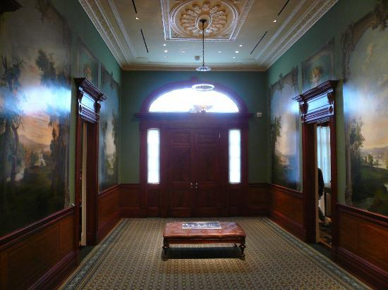 Taft Museum of Art : The entry way with Duncanson murals