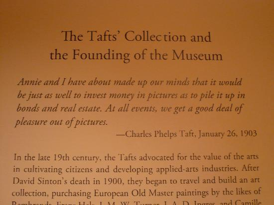 Taft Museum of Art: The Tafts label