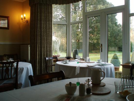 The Durdans B & B : View from breakfast table