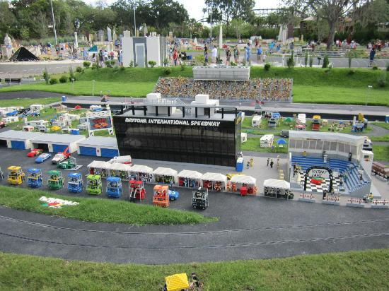 LEGOLAND Florida Resort: Daytona Speedway made from Legos