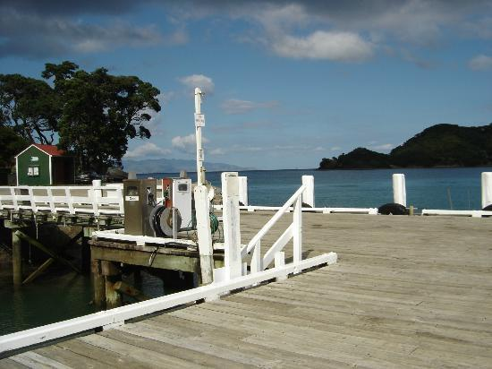 ‪‪Great Barrier Lodge‬: Whangaparapara Wharf‬