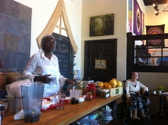 Windhorse Wellness Center: Chef Olive Mackey Food Demo WIndHorse Eustis FL