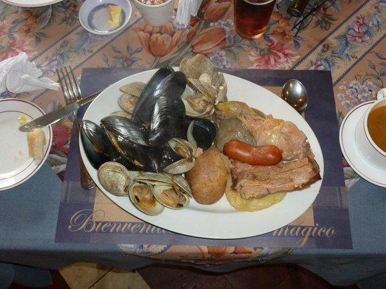 curanto at Kuranton Restaurant, Ancud, Chiloe, Chile