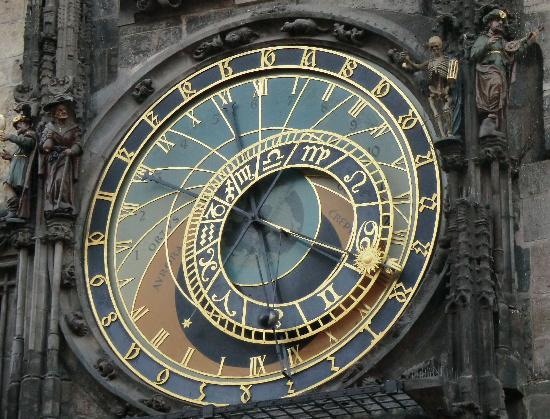 Praga, Republika Czeska: Horloge astronomique Prague - Astronomic clock
