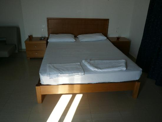 Pachia Ammos Apartments : Comfortable beds