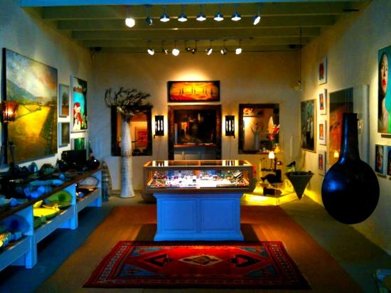"Shopping in Santorini, ""Tzamia-Krystalla"" art Gallery, Fira."