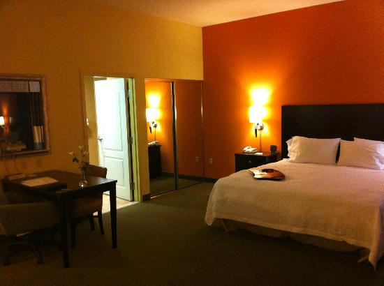 Hampton Inn & Suites Austin Lakeway: View to Bed/Bathroom/Closet