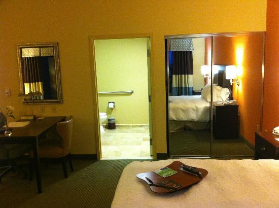 Hampton Inn & Suites Austin Lakeway: Into bathroom, Closet
