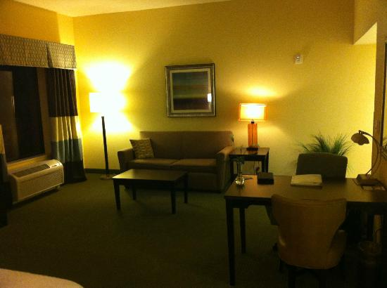 Hampton Inn & Suites Austin Lakeway : Living Area, Desk