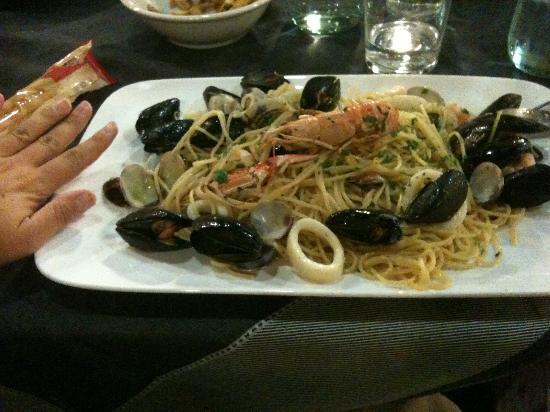 Mirano, İtalya: Pasta allo scoglio!!