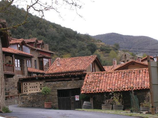 La Casa de las Chimeneas: The front of the complex from the lovely village square