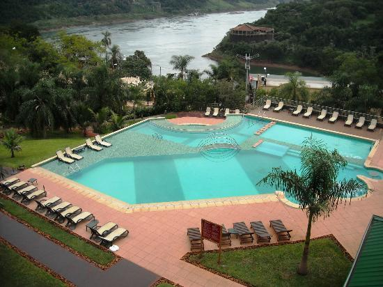Amerian Portal del Iguazu: View of pool and river from room