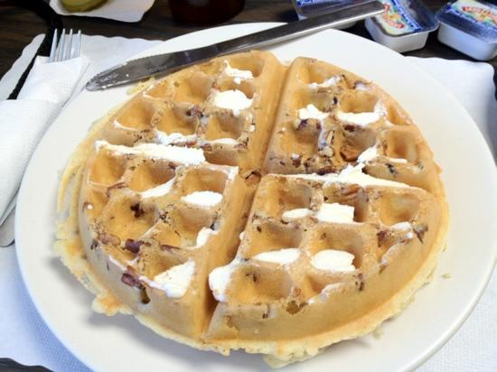 Sharon's Cafe: Pecan Waffle. I added the butter
