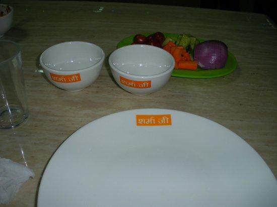Sharmaji Vegetarian Indian Restaurant: The Dinnerware