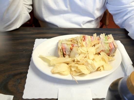 Sharon's Cafe: Club Sandwich on Rye