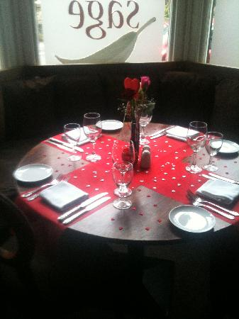 Sage Bistro : Table 8 Valentines night