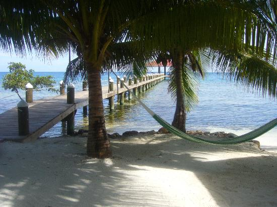 Hatchet Caye Resort : Honeymoon cabana porch view