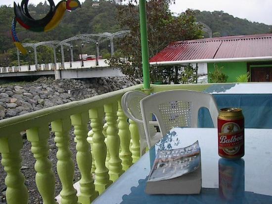 Hostal Boquete: at back deck