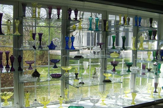 Sandwich Glass Museum: The glass exhibits are extensive.