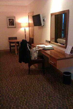 Amber Springs Hotel and Health Spa: Desk area with lowly chair