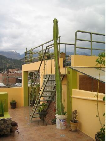 La Casa  de Zarela: 4th floor terrace with great view to the mountains