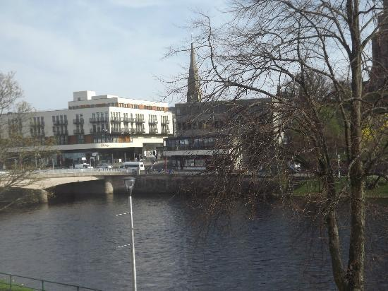Best Western Inverness Palace Hotel & Spa: Town centre from bedroom.