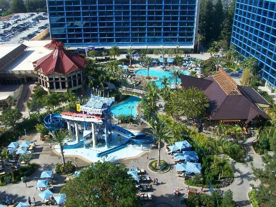 Disneyland Hotel Pool View From Balcony