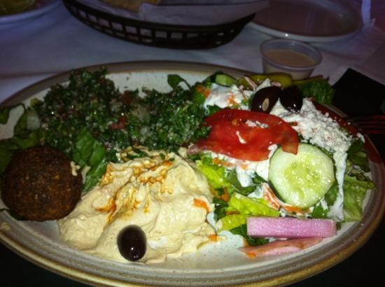 Vegetarian meal picture of aladdin mediterranean grill - Delivery dudes palm beach gardens ...