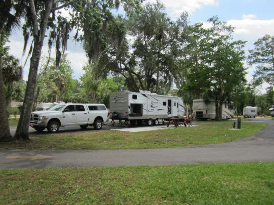 Tropical Palms Resort and Campground: our camp site