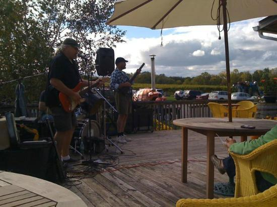 The Copper Oven: From the deck, band playing