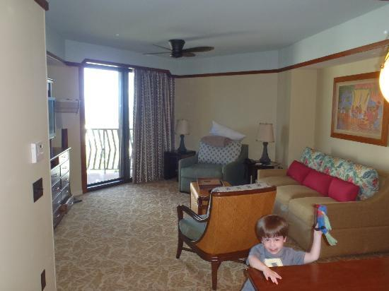 Living area in 2 bedroom DVC villa - Picture of Aulani, a Disney ...