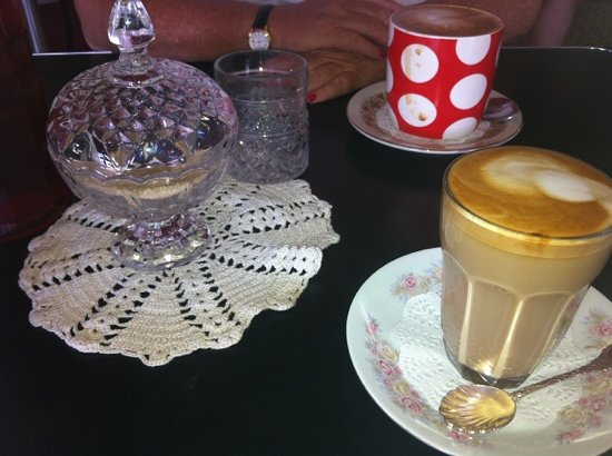 The Junction Cafe: Cute perfect lattes.
