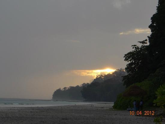 sunset at radhanagar beach...
