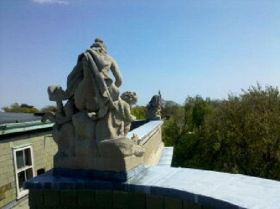 Behind the Scenes: overlooking the grounds from the roof