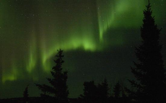 Aurora over Blachford Lake Lodge