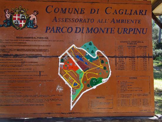 Monte Urpinu: Pretty noticeboard.