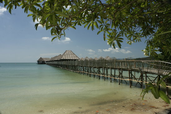 Telunas Beach Resort: View from the beach