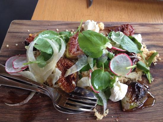 Mandala Wines Cellar Door: Fig Cous Cous Goats Cheese