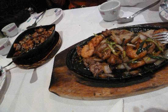 Son Hao: special chicken and onion beef & prawn