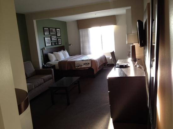 Sleep Inn & Suites Evergreen: king room from entrance