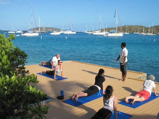 Bitter End Yacht Club: yoga area.