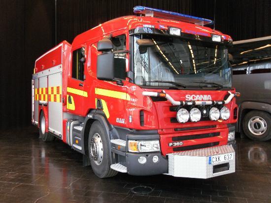 Sodertalje, Sweden: Everybody wants to climb in a fire truck!