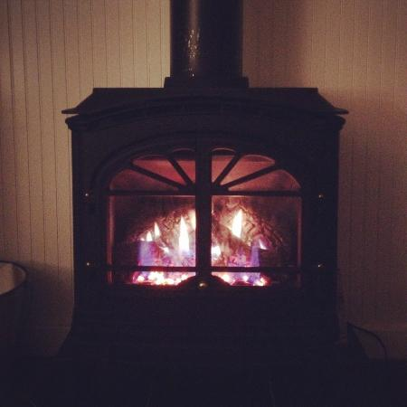 Gearhart Ocean Inn: Old style fireplace...LOVE!