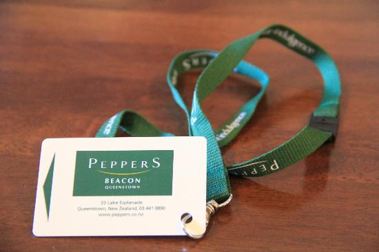 Peppers Beacon Queenstown: The card!