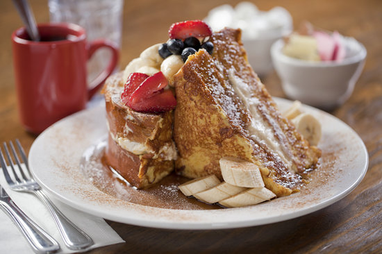 Sabrina's Cafe: Our Stuffed Frenchtoast, Its bigger than it looks!