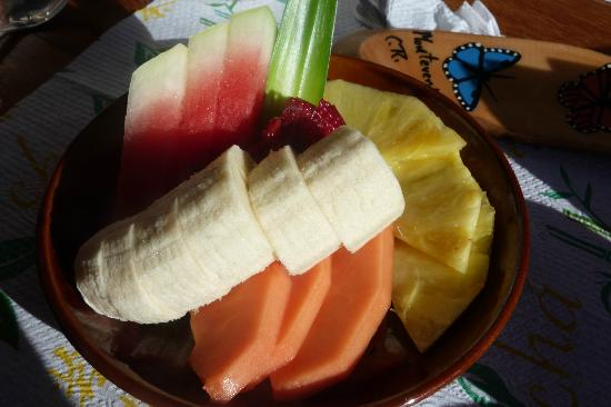 Cabinas Eddy B&B: Breakfast fruit plate