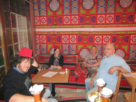 Fun times in the Arabian Cafe at Amman Pasha Hotel