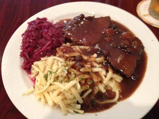Mary's German Restaurant: The absolutely delightful sauerbraten dinner